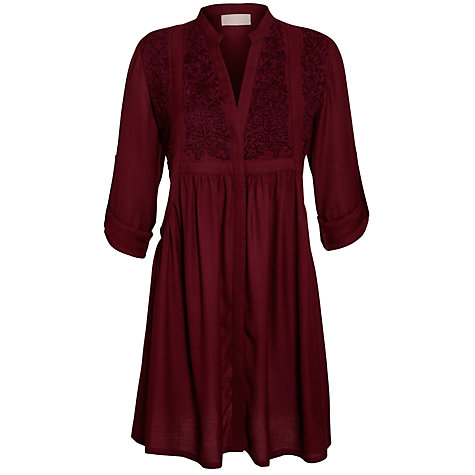 Buy Pyrus Embroidered Dress, Burgundy Online at johnlewis.com