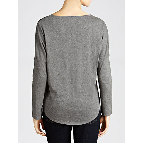 Buy People Tree Print Top, Grey Melange Online at johnlewis.com