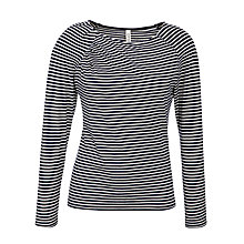 Buy People Tree Polly Stripe Gather Top, Navy Online at johnlewis.com