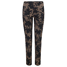 Buy People Tree Bouquet Print Jane Trousers, Mushroom Online at johnlewis.com