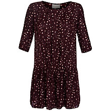 Buy Pyrus Printed Dropped Waist Dress, Vivian Burgundy Online at johnlewis.com