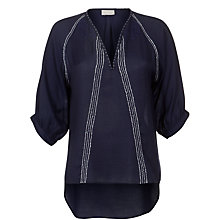 Buy Pyrus Lurex Cashmere Stitch Blouse, Marine Online at johnlewis.com