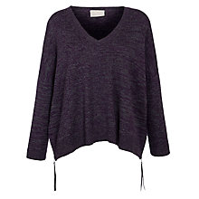 Buy Pyrus Melange Oversized Jumper, Grey Marl/Purple Online at johnlewis.com