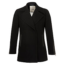Buy Pyrus Leather and Wool Felt Jacket, Black Online at johnlewis.com