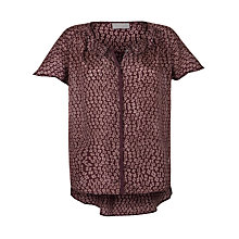 Buy Pyrus Habutai Top, Braille Burgundy Online at johnlewis.com