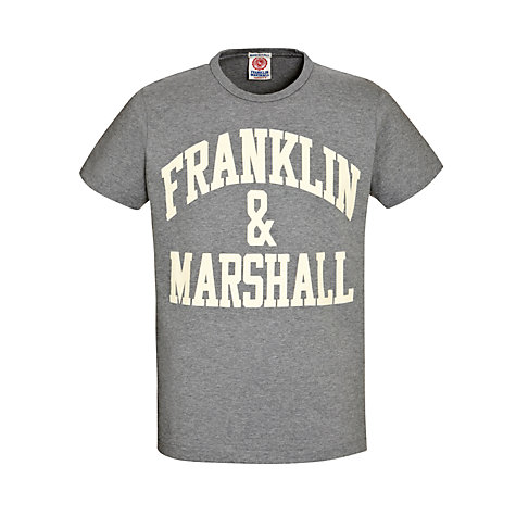 Buy Franklin & Marshall Arch Logo Short Sleeve T-Shirt Online at johnlewis.com