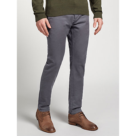 Buy Dockers Alpha Skinny Chinos, Dark Grey Online at johnlewis.com