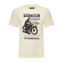 Buy Barbour International Vintage Rider T-Shirt, Chalk Online at johnlewis.com