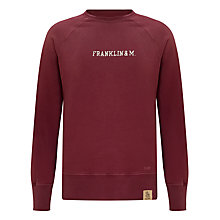 Buy Franklin & Marshall Raglan Crew Neck Jumper, Alaska Wine Online at johnlewis.com
