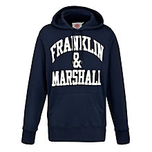 Buy Franklin & Marshall Varsity Arch Logo Hoodie Online at johnlewis.com