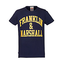 Buy Franklin & Marshall Big Logo Men's T-Shirt Online at johnlewis.com