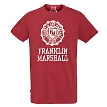 Buy Franklin & Marshall Crest Logo T-Shirt Online at johnlewis.com