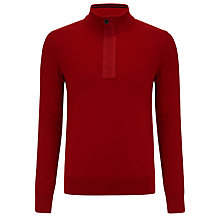 Buy Barbour International Throttle Zip Neck Cotton Jumper Online at johnlewis.com