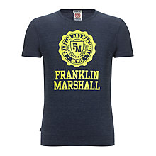 Buy Franklin & Marshall Varsity Jersey T-Shirt, Blue Online at johnlewis.com
