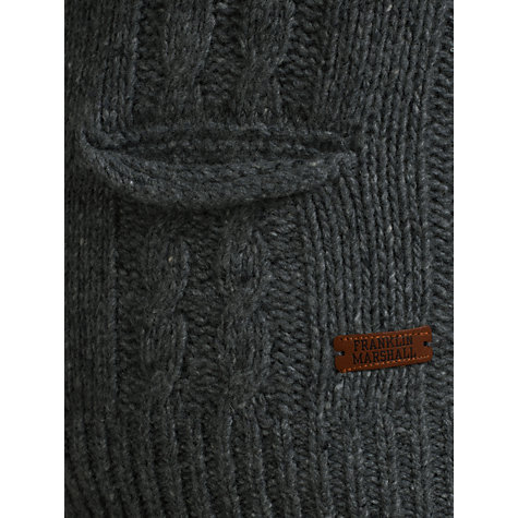 Buy Franklin & Marshall Graduate Knit Cardigan, Grey Melange Online at johnlewis.com