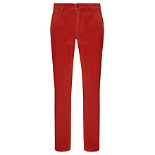 Buy Dockers Alpha Slim Cotton Blend Corduroy Trousers, Alder Bark Online at johnlewis.com