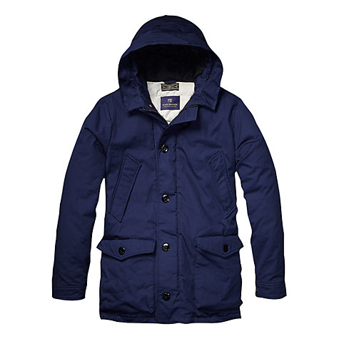 Buy Scotch & Soda City Parka, Navy Online at johnlewis.com