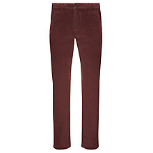 Buy Dockers Alpha Slim Cotton Blend Corduroy Trousers, Winetasting Online at johnlewis.com