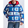 Buy Franklin & Marshall Fair Isle Puffer Jacket, Blue/Red Online at johnlewis.com