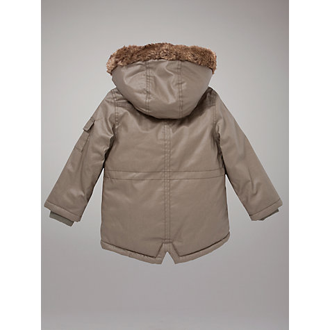 Buy John Lewis Hooded Parka, Khaki Online at johnlewis.com