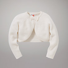 Buy John Lewis Bow Shrug Cardigan, Cream Online at johnlewis.com