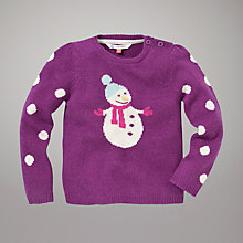 Buy John Lewis Snowman Spot Jumper, Purple Online at johnlewis.com