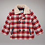John Lewis Checked Lumberjack Jacket, Red