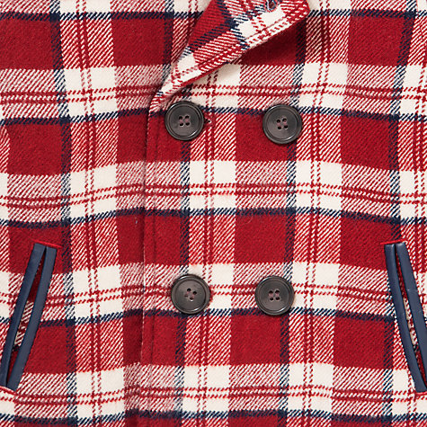 Buy John Lewis Checked Lumberjack Jacket, Red Online at johnlewis.com