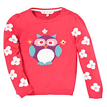 Buy John Lewis Owl Jumper, Pink Online at johnlewis.com