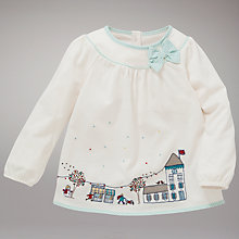 Buy John Lewis Winter Scene Long Sleeve Top, Cream Online at johnlewis.com