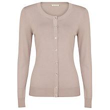 Buy Planet Round Neck Cardigan, Mink Online at johnlewis.com