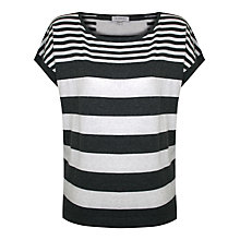 Buy Kaliko Rugby Stripe Top, Grey Online at johnlewis.com