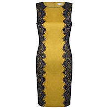 Buy Kaliko Lace Overlay Dress, Yellow Online at johnlewis.com
