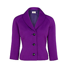 Buy Precis Petite Textured Jacket, Purple Online at johnlewis.com
