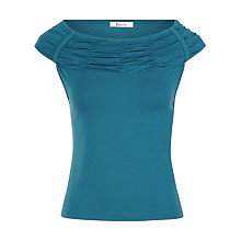 Buy Precis Petite Bardot Jersey Top, Jade Online at johnlewis.com