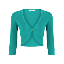 Buy Precis Petite Knitted Shrug, Jade Online at johnlewis.com