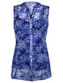 Kaliko Printed Tunic Top, Blue