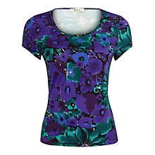 Buy Precis Petite Maldives Floral Top, Purple Online at johnlewis.com