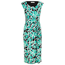 Buy Precis Petite Tropical Abstract Dress, Green Online at johnlewis.com
