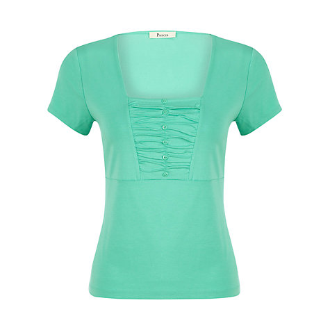 Buy Precis Petite Jersey Top, Light Jade Online at johnlewis.com