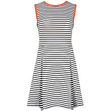 Buy Ted Baker Adellee Striped Pleated Dress, White Online at johnlewis.com