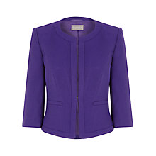 Buy Planet Colloarless Jacket, Purple Online at johnlewis.com