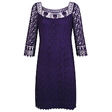 Buy Kaliko Cotton Lace Dress, Purple Online at johnlewis.com