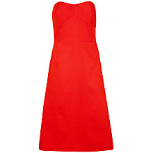 Buy Ted Baker Alodia Strapless Dress, Dark Orange Online at johnlewis.com