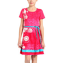 Buy Desigual Indio Rep Dress, Pink Online at johnlewis.com