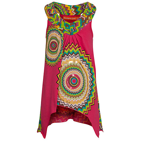 Buy Desigual Clivia Tunic Top, Pink Online at johnlewis.com