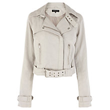 Buy Warehouse Aviator Jacket, Stone Online at johnlewis.com