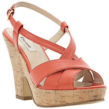 Buy Dune Frizzle Sandals, Orange Online at johnlewis.com