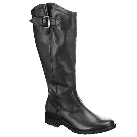 Buy Gabor Pride Buckled Knee Boots, Black Online at johnlewis.com