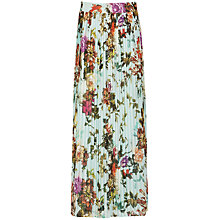 Buy Ted Baker Edelene Floral Pleated Maxi Skirt, Powder Blue Online at johnlewis.com